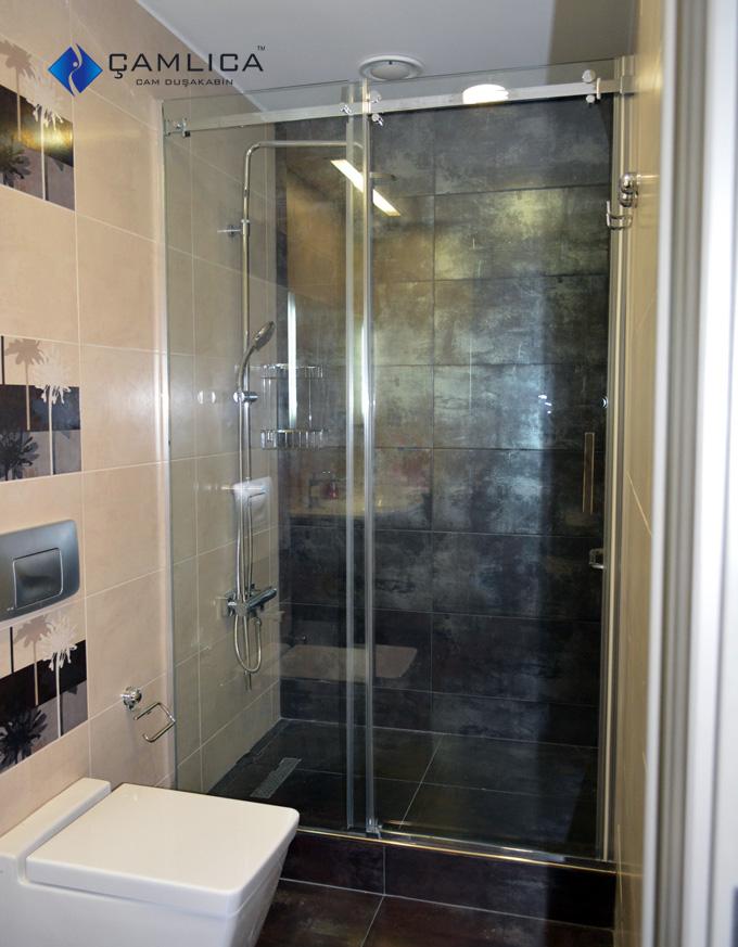 1 Sabit Bir Hareketli Sürgülü Duş Kabin