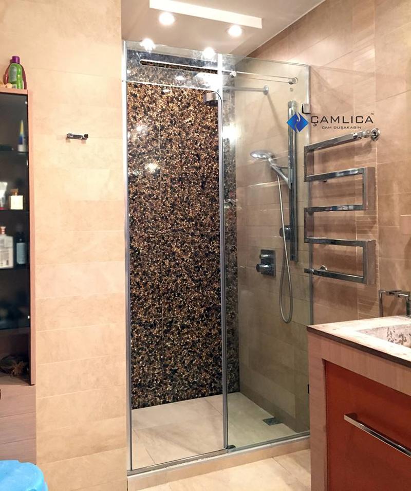 kanallı cam duş kabini